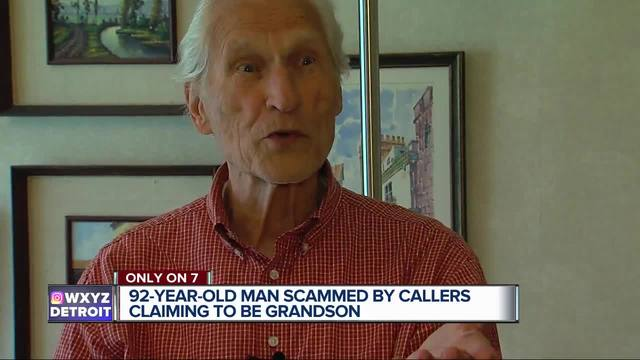 92-year-old man scammed by callers claiming to be grandson