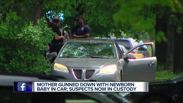 Mother gunned down with newborn baby in car