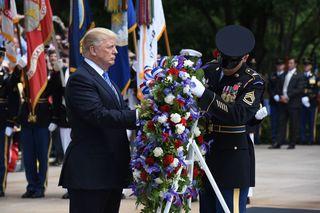 Photos: Trump visits Arlington for Memorial Day