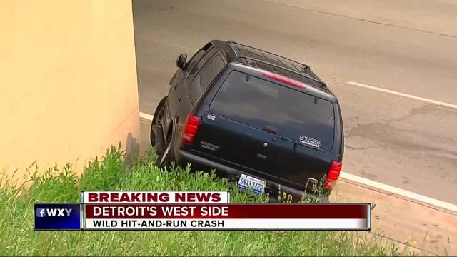Hit-and-run sends SUV towards Southfield Freeway