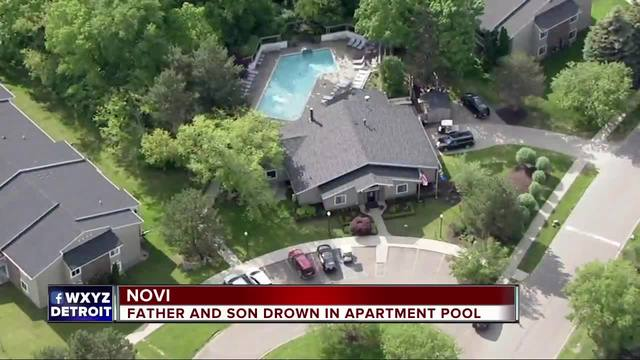 Father and young child dead after being found unresponsive in Novi pool