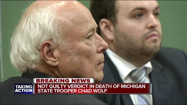Jury acquits man in traffic death of Michigan state trooper