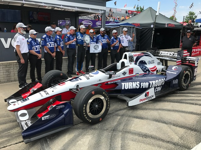 Rahal Wins First Dual in Detroit Race