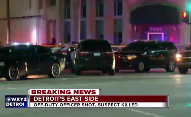 Off-duty officer in Detroit shot, suspect killed