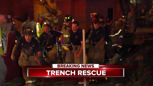 Construction worker rescued from Warren trench collapse