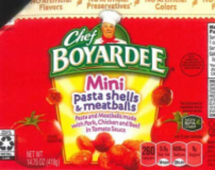 'Chef Boyardee' products involved in recall