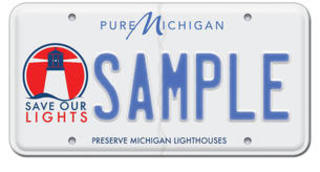 New plate aimed at preserving MI lighthouses