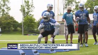 Abdullah fully particpates in Lions minicamp