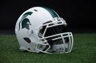 Michigan State football unveils all-white helmet