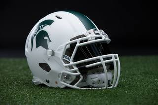Photos: MSU football unveils all-white helmet