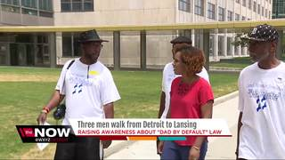 Men walk to Lansing to protest child support law
