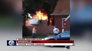 Downed power line sparks massive fire at house