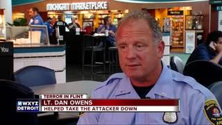 Officer who took down stabbing suspect speaks
