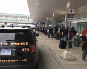 Security line delays reported at DTW