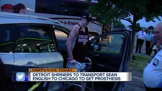 Shriners to help Sean English get prosthesis