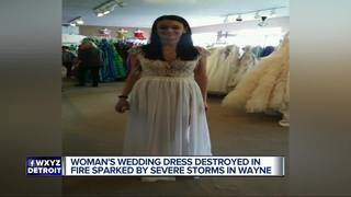 Metro Detroit woman loses wedding dress in fire