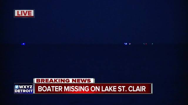 Boater goes missing at Lake St. Clair Metropark