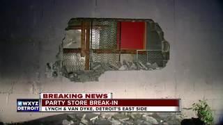 Thieves break through Detroit liquor store wall