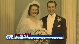 Local couple celebrates 76 years of marriage