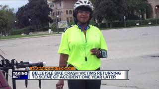 Bike ride a reminder for woman who cheated death