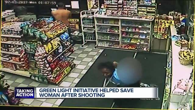Detroit gas station customer comes to rescue of woman suffering gunshot wound