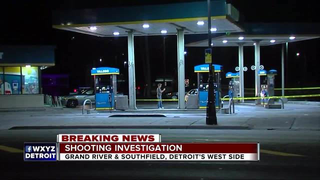 Shooting victim drives to Project Green Light Detroit gas station for help