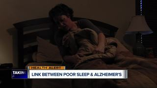 Link between poor sleep and Alzheimer's?