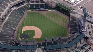 Photos: Comerica Park field damaged by concert
