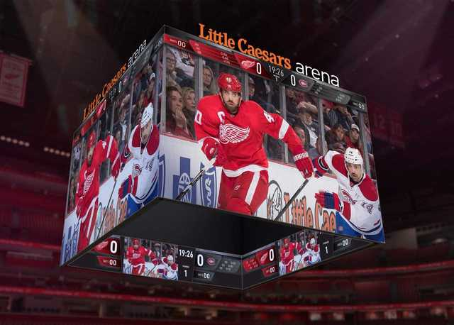 Little Caesars Arena to feature world's largest seamless, centerhung scoreboard