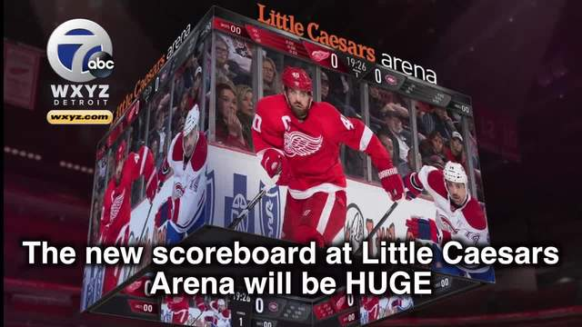 Red Wings: Little Caesars Arena scoreboard is NHL's biggest