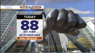 FORECAST: Hot & humid with storm chances