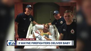 Firefighters help deliver baby in ambulance