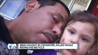 Man caught on crossfire, killed