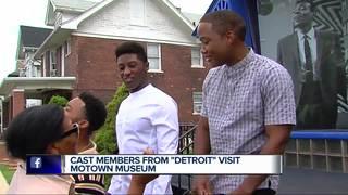 'Detroit' movie stars visit Motown Museum