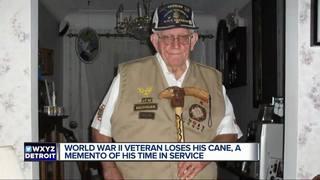 Local World War II veteran loses special cane