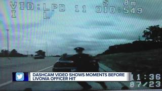 Video shows deadly crash where officer was hurt