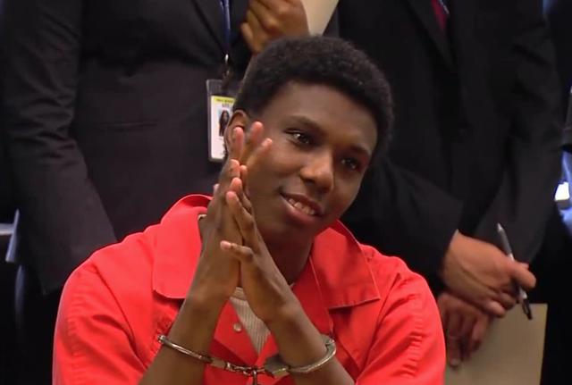Judge berates murderer for smiling at sentencing