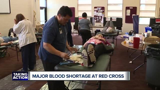 Red Cross faces blood shortage