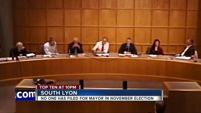 No one running for mayor in South Lyon