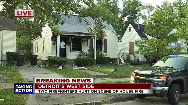 Firefighters hurt on Detroit's west side