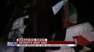 Detroit man breaks heel jumping from house fire
