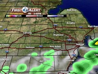 FORECAST: Spotty showers today, sunny weekend