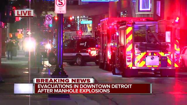 Electrical Cable Failure Causes Downtown Detroit Explosions
