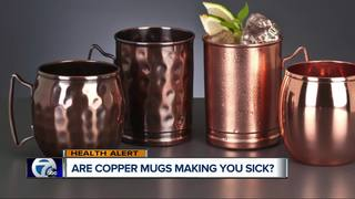 Do copper mugs make Moscow Mule drinkers sick?