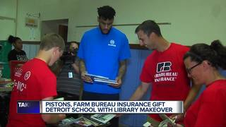 Pistons gift J.E. Clark with library makeover