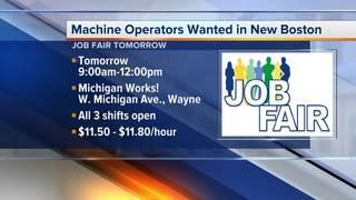 Machine Operators needed in New Boston