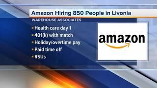 Amazon is hiring 850 associates in Livonia