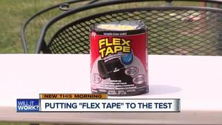 Will it work? Testing Flex Tape on leaky bucket
