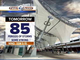 FORECAST: Storms could be strong