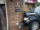 Truck crashes into metro Detroit car wash